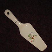 1950s Retro Five & Dime Ceramic Pie Server, Southwestern