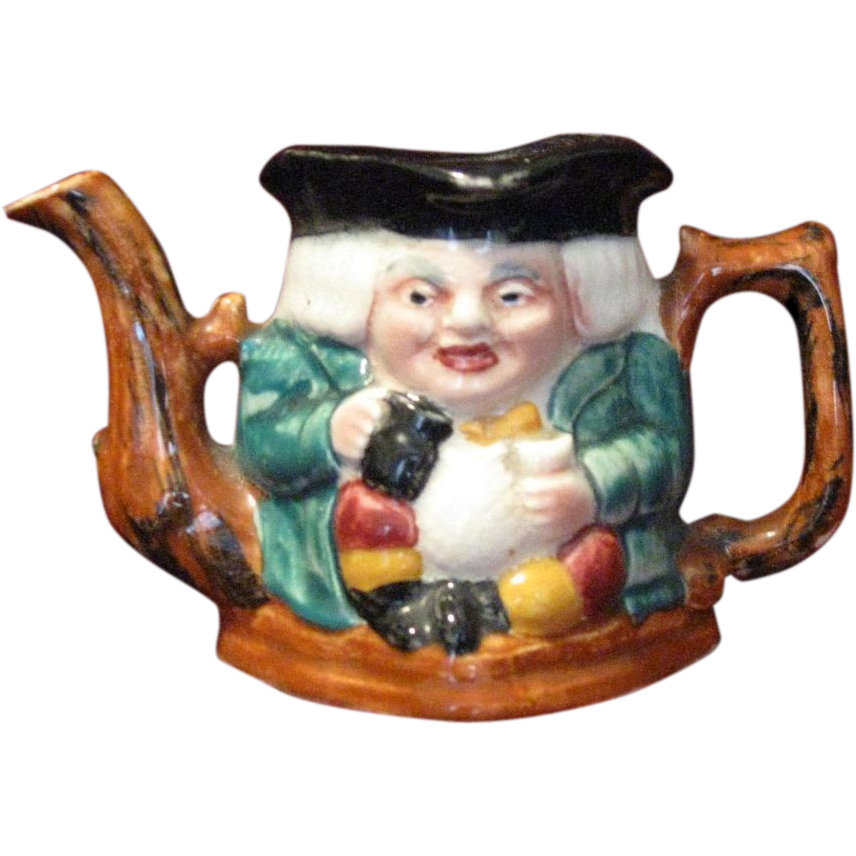Staffordshire Two-Sided Toby Jug  Teapot, Shorter & Son