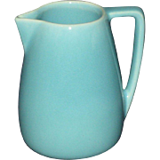 1940s Franciscan Deco Style Syrup Pitcher, Turquoise Blue