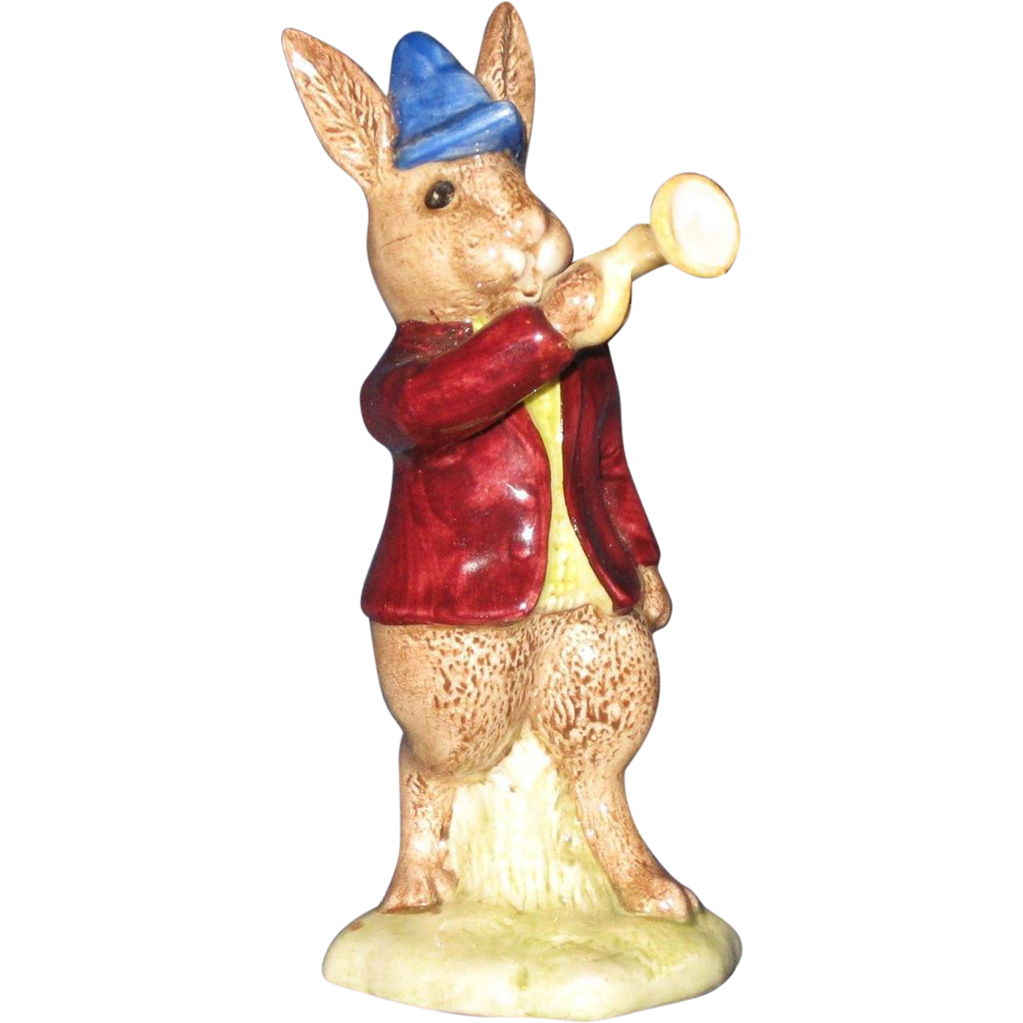 "Bunnykins Porcelain ""Rise and Shine"" Bunny by Royal Doulton"
