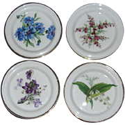 Hammersley & Co. Four Applied Floral Bone China Coasters