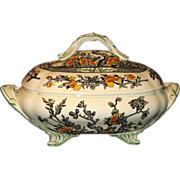 Coalport Tureen, Indian Tree Pattern in Orange, Yellow and Green