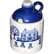 Jug-Shaped Mustard Pot Metlox Poppytrail Homestead Provincial Pattern