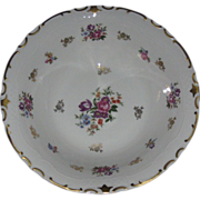 Roses & Tulips, Large Porcelain Serving Bowl, Gold Enameling, Reichenbach