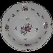 Roses & Tulips, Large Porcelain Serving Bowl, Gold Enameling, Reichenbach