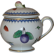 Richard Ginori Pot de Crème, Italian Fruit Pattern