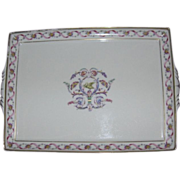 "Lovely Ginori 13"" Rectangular Porcelain Tray, Rapallo Pattern"
