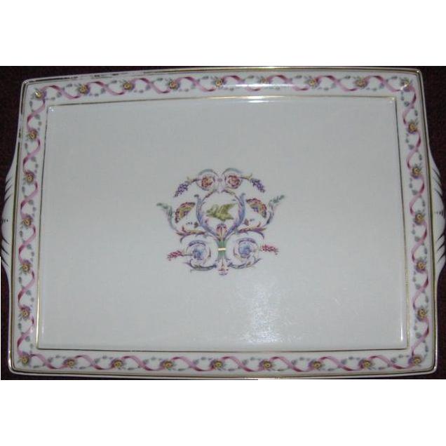 "Lovely Ginori 13"" Rectangular Porcelain Tray, Rapallo Pattern"