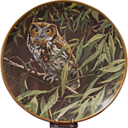 "Spode Bone China ""Dawn in the Willows"" Screech Owl Collector's Plate Limited Edition"