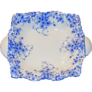 """Shelley Porcelain """"Dainty Blue"""" Small Sweet Meat Dish"""