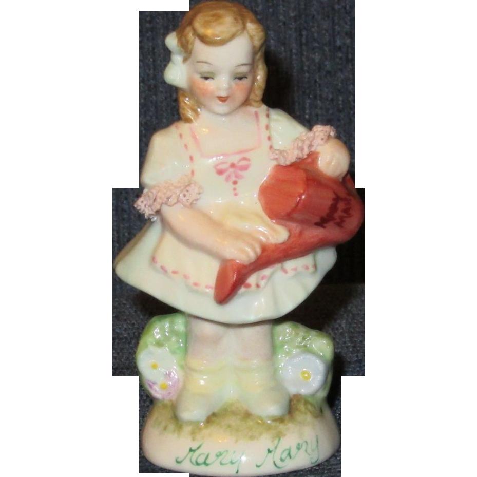 "Muller Volkstedt Irish Dresden ""Mary, Mary"" Little Girl Figurine"