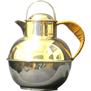 """Guernsey Milk Can"" Silver Plated Tea Pot, E.G. Webster & Son"