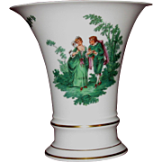 Furstenberg Trumpet Vase, Courting Couples, Watteau Pattern