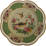 "Gorgeous Carl Schumann Cabinet Plate ""Pheasants and Flowers"" (#2)"