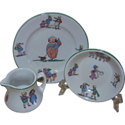 Shenango Child's Bread Plate, Small Bowl, and Cream Pitcher