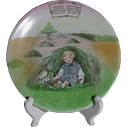 Royal Bayreuth Little Boy Blue Child's Plate with Nursery Rhyme