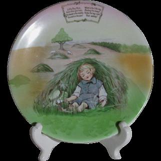 Royal Bayreuth Little Boy Blue Child's Plate with Nursery Rhyme