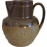 Doulton Lambeth Salt Glaze Hunting Scene Pitcher, One Pint