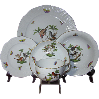 Herend Dinnerware Five Piece Place Setting (4 Settings Available)