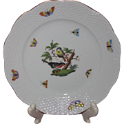 "Herend Rothschild Bird Dessert or Luncheon Plate, 8"" Diameter (12 Available)"
