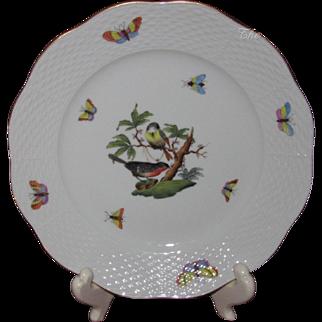 "Herend Rothschild Bird Dessert or Luncheon Plate, 8"" Diameter (12 Available)"
