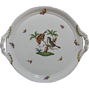 Herend Cake Service Plate, Rothschild Bird Series