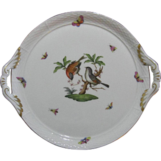 Herend Cake Service Plate, Rothschild Bird Series