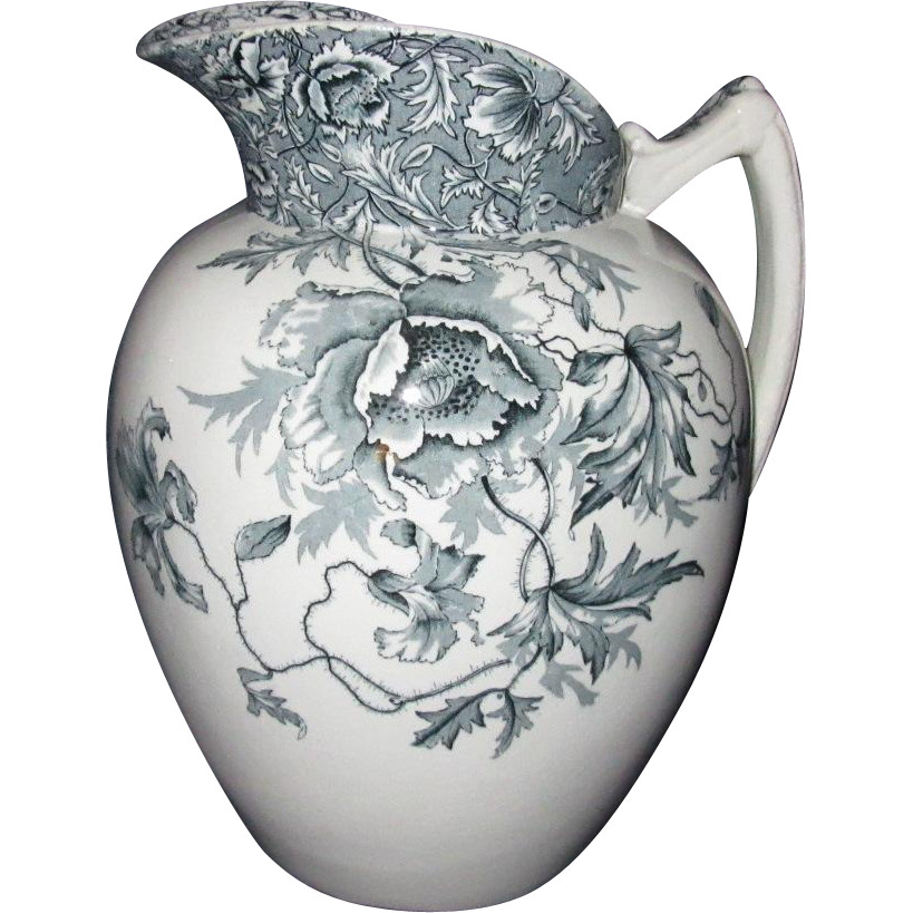 Large 19th Century Staffordshire Water Pitcher, Moore, Leason & Co.