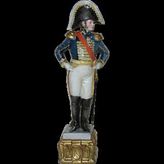 Napoleonic Marshall - Tall, Hand Painted Porcelain Figurine