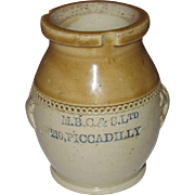 Fulham, London Antique Stoneware Salt Glaze Pot, Charles Bailey