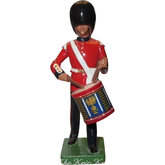 W. Britain Cast Metal Royal Grenadier Marching Side Drummer