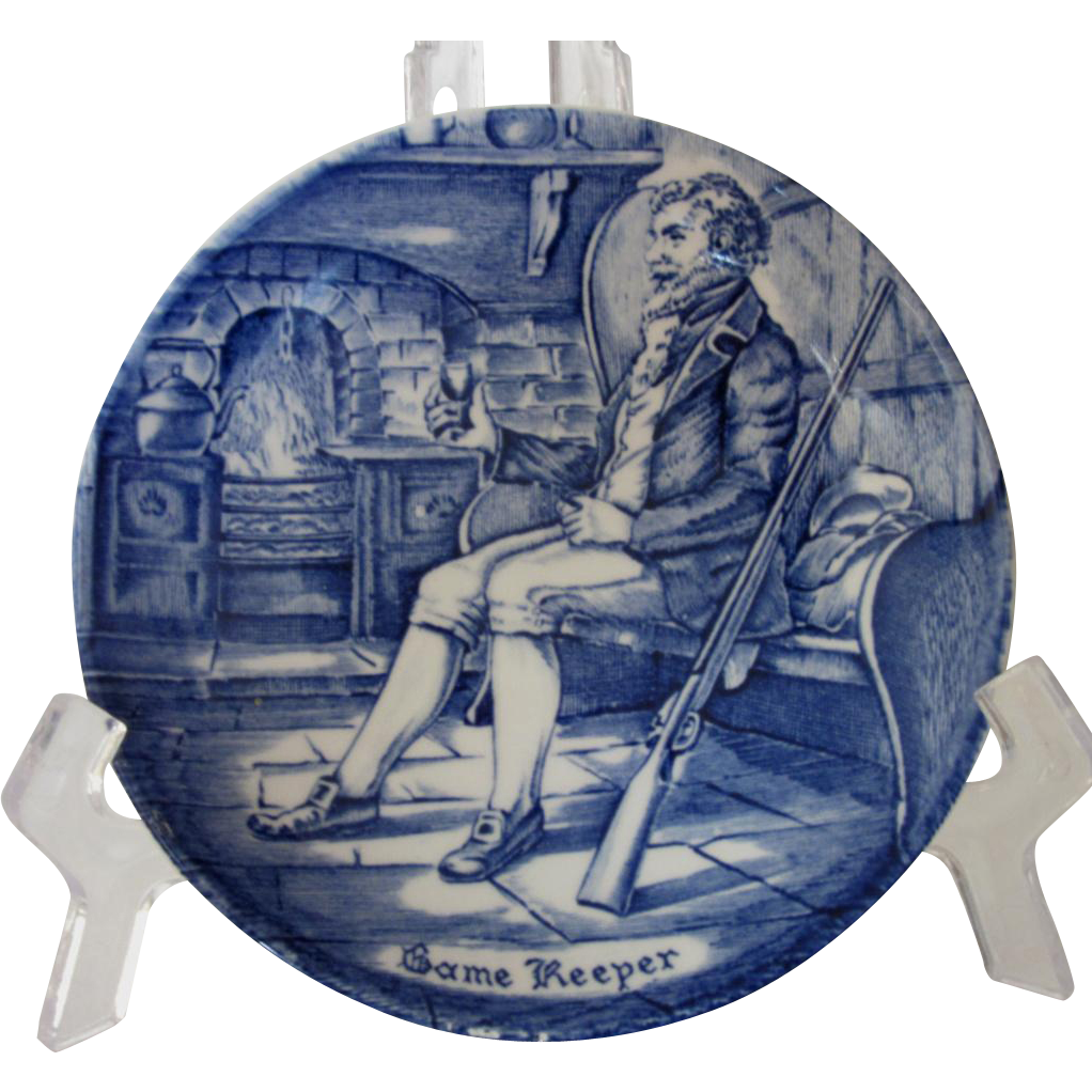 Enoch Wedgwood Tunstall, Staffordshire, Character Plate of Game Keeper