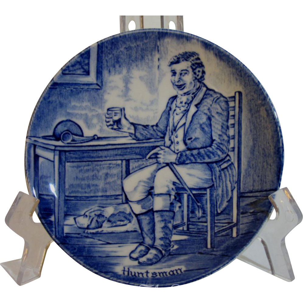 Enoch Wedgwood Tunstall, Staffordshire, Character Plate of Huntsman