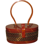 Wilardy Designs Butterscotch Lucite Purse