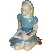 Royal Doulton Figurine, Lewis Carroll's Alice, Reading a Book