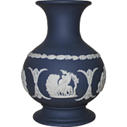 Small Cobalt Blue Wedgwood Jasperware Vase