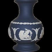 Small Cobalt Blue Wedgwood Jasperware Vase