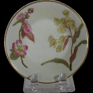 Royal Worcester Blush Ivory Pin or Ring Dish, Wildflowers