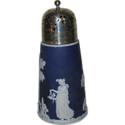Cobalt Blue Jasperware Sugar Shaker, Unmarked