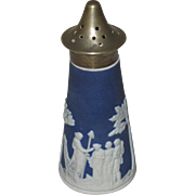Jasperware Cobalt Blue Salt Shaker, Unmarked