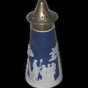 Jasperware Cobalt Blue Salt Shaker, Unmarked
