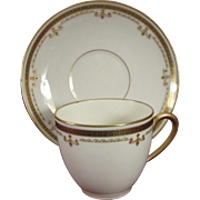 L. Bernardaud & Company, Limoges Gold Decorated Demitasse Set