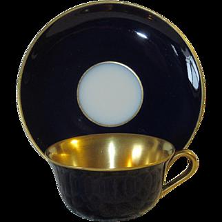 Cobalt Blue and Gold Demitasse Set; Vintage Hutschenreuther
