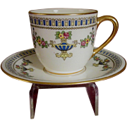 Lenox Demitasse Set, Colonial Pattern, Striking Geometrics