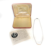 Felco Cultured Junior Deb PEARLS sterling silver Starter NECKLACE 1954