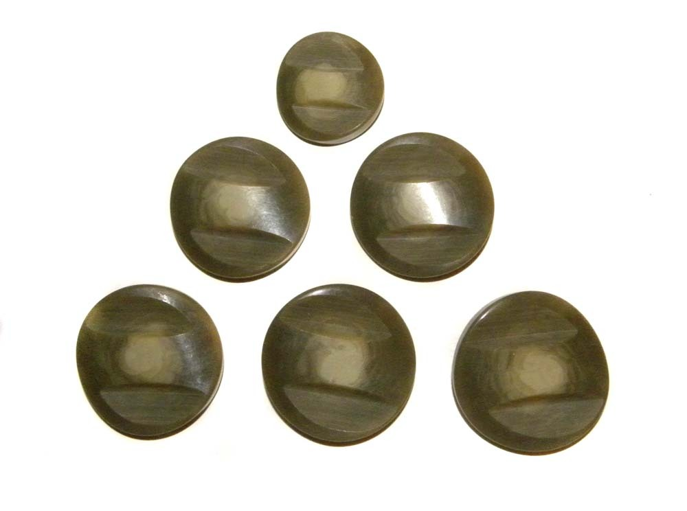 "6 Buttons ART DECO Bakelite Fancy 1 5/8"" Large 1 3/8"" Smaller COAT Buttons"