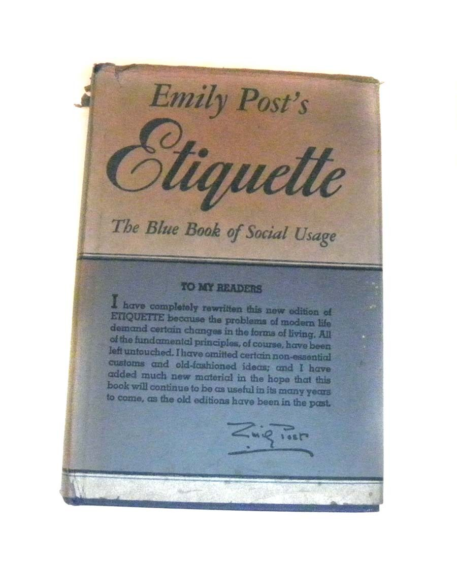 Emily Post Wedding: Emily POST'S Etiquette Book Revised 1947 Post War FABULOUS
