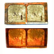 Stereo Card Tissue Paper RARE 1850'S French JERUSALEM