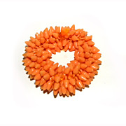 Lucite Cha Cha Bracelet Expansion TANGERINE Stretch Cute!