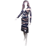 Roberto Cavalli for Neiman Marcus Polyester DRESS Runway Designer Size 8